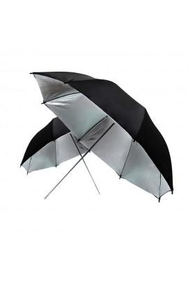 Parapluie réfléchissant argent noir