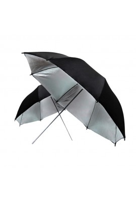 Black Silver Reflective Umbrella