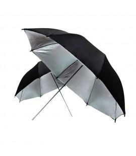 Ombrello riflettente argento nero