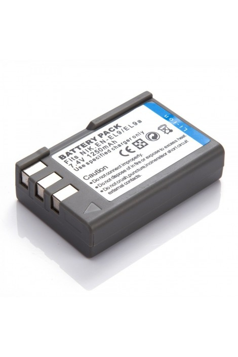 Replacement battery for Nikon EN-EL9