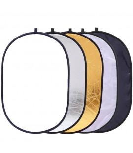 """5en1 34"""" pouces 90x60cm Réflecteur Lumière Diffuseur ovale"""