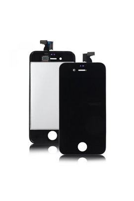 iPhone 4S Retina LCD Display Digitizer Nero