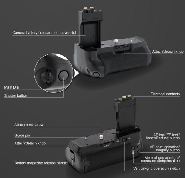 BG-E8 Canon EOS 700D 600D