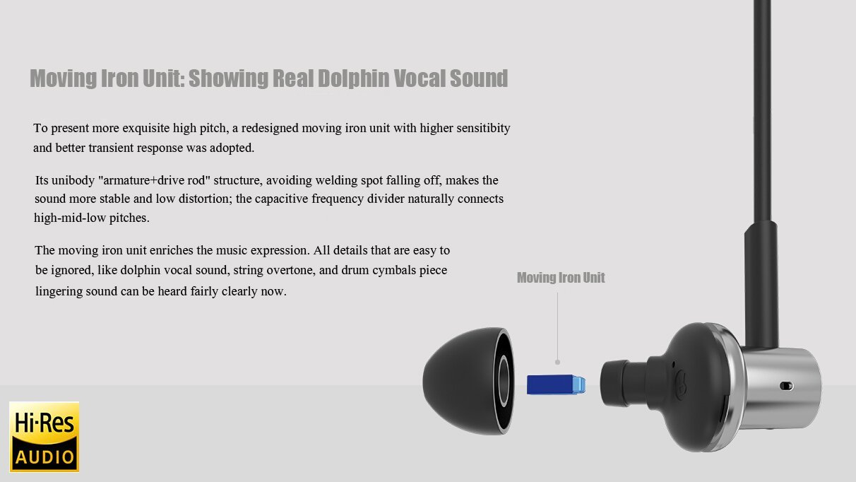 Moving Iron Unit: Showing Real Dolphin Vocal Sound