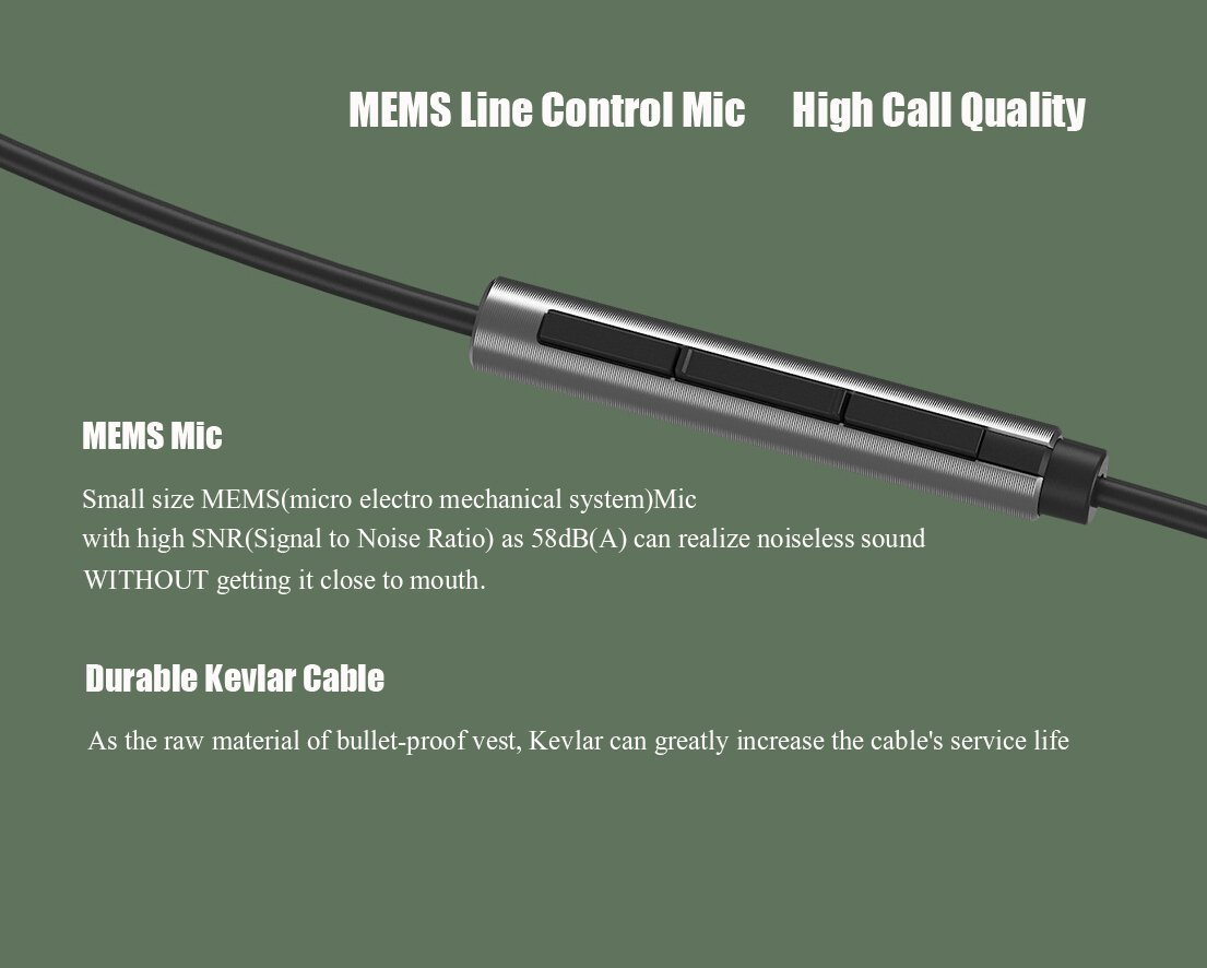 MEMS Line Control Mic High Call Quality