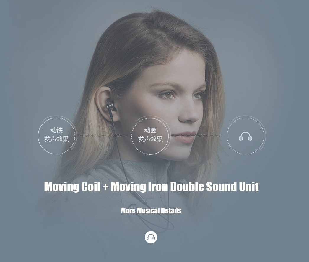 Moving Coil + Moving Iron Double Sound Unit